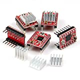 Longruner A4988 3Dプリンタ RepRap ステッピングモータドライバモジュール ヒートシンク 3Dプリンタ キット LK02
