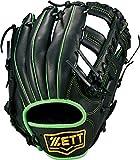 ZETT(ゼット) 野球 軟式 グラブ (グローブ) デュアルキャッチ オールラウンド 右投用 ブラック×グリーン(1948) BRGB34750