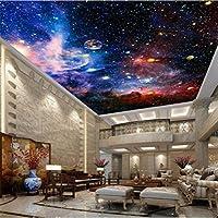 Lcymt 天井壁画壁紙現代の3D宇宙星空スペース写真壁紙リビングルームテーマホテルの背景壁の装飾壁画-350X250Cm