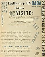 Excursions and visits Dada–Premiere Visiteヴィンテージポスター(アーティスト: Breton and Tzara )フランスC。1921 12 x 18 Art Print LANT-60130-12x18