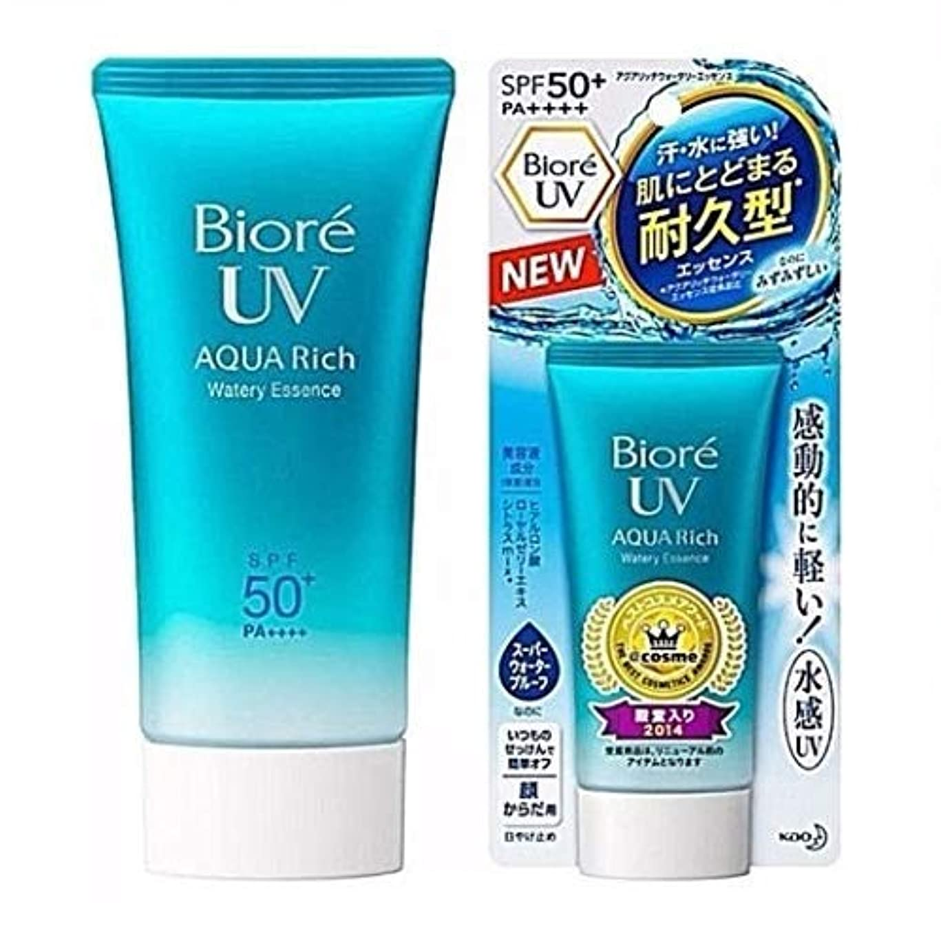 感度ネックレット嘆願BIORE UV AQUA豊富な水っぽいクリームSPF 50 1,50g