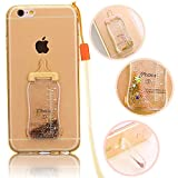 Vandot iPhone 5S/ iPhone 5/ iPhone SE tpu ケース 薄型 ソフト TPU シリコン アイフォン5s アイフォンse クリアケース ミルク瓶 デザイン キラキラ