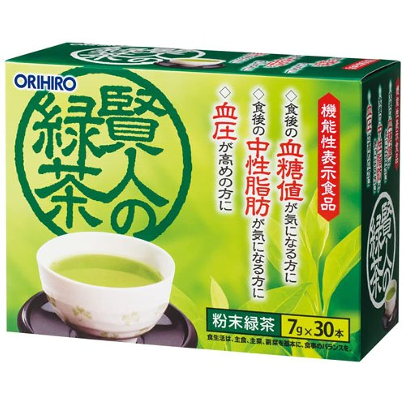 うなる合併症松オリヒロ 賢人の緑茶 7g×30包×6個セット