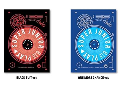 【2枚セット】 SUPER JUNIOR 正規8集 PLAY アルバム(Black Suit&One More Chance)(韓国盤)(2×初回ポスター/特典付)(ワンオンワン店限定)
