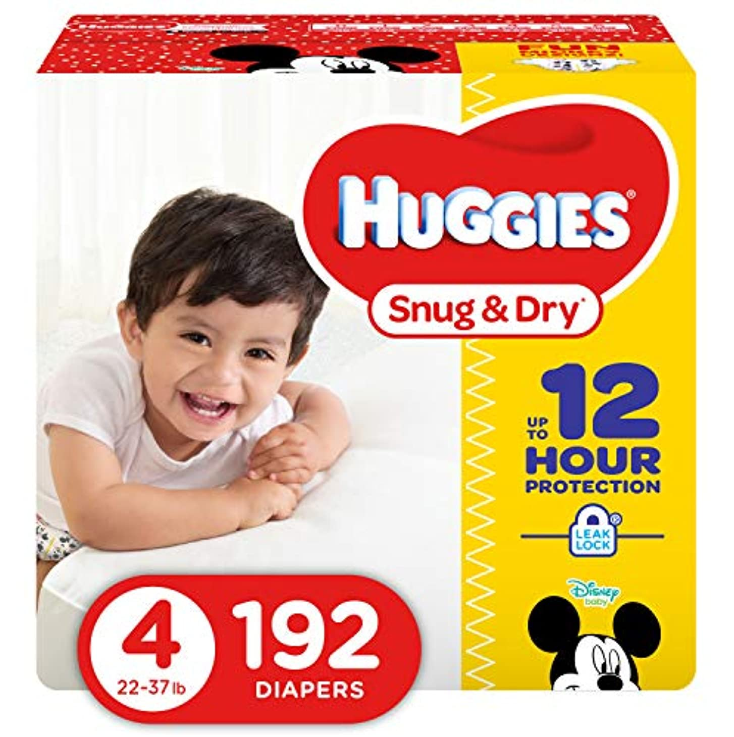 Huggies Snug & Dry Diapers, Size 4, 192 Count (One Month Supply) by Huggies