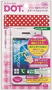 スマートフォン用 防水クリアバック ドット柄 iPhone5s/5c収納可能