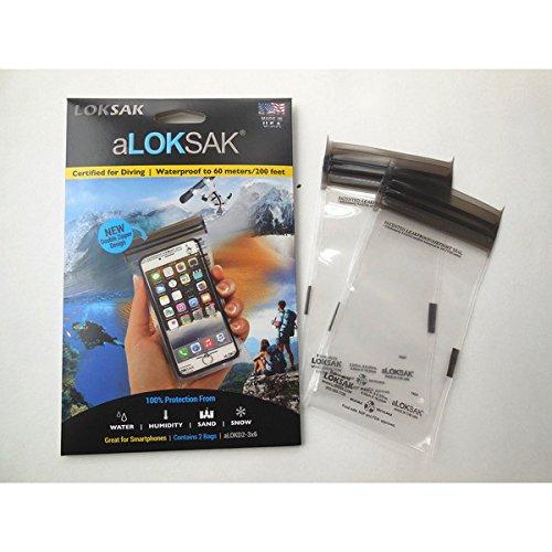 aLOKSAK(ロックサック) 防水マルチケース スマートフォン スモール(2枚入) ALOKD2-3X6