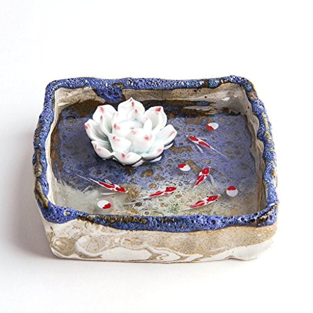 出費持続的キャビンお香立て お香たて 香の器 お香を焚いて 香皿,陶磁器、ブルー