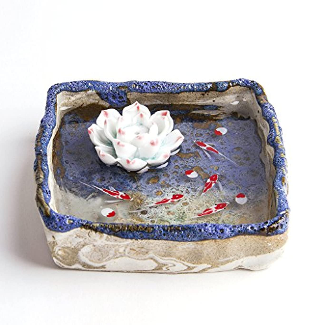 パッド後継摩擦お香立て お香たて 香の器 お香を焚いて 香皿,陶磁器、ブルー
