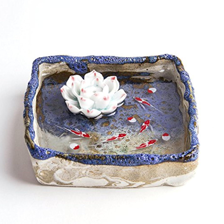 バラバラにする永久にきれいにお香立て お香たて 香の器 お香を焚いて 香皿,陶磁器、ブルー