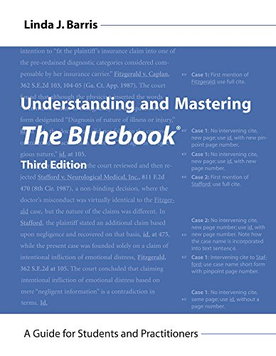 Download Understanding and Mastering the Bluebook: A Guide for Students and Practitioners 1611637740