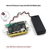 MakerHawk Micro:ビット保護ケースアクリル透明ケースおよびAAAセル電池ボックスMicro:bitボード対応BBC用電源コネクタMicro:ビットボード