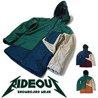 ∴スノーボード ウェア/ ジャケット メンズ レディース rideout(ライドアウト) ファントムジャケット/ phantom jacket RSW3802 ユニセックス/ 13-14 スキー スノボ用 ウエア 切り替え