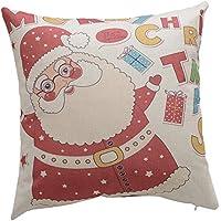 Merssavo ピローケース、クリスマス枕コットンリネンベッドソファクッションスローピローケースカバールームインテリア9#