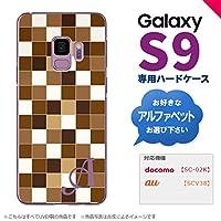 Galaxy S9 SC-02K SCV38(ギャラクシー エスナイン) SC-02K SCV38 スマホケース カバー ハードケース スクエア 茶 イニシャル対応 E nk-s9-1021ini-e