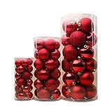 Itopfoxjp クリスマス ツリー 飾り ボール オーナメント 24個 球 デコレーション ブルー 青 ゴールデン 金 パープル 紫 レッド 紅 ローズレッド シルバー