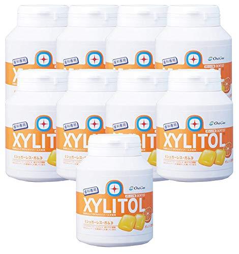 歯科専用 キシリトールガム ボトルタイプ オレンジ (約90粒) 9個セット