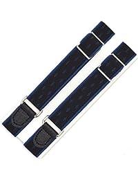 [HATCHIブランド] アームバンド「フラッシュ」 日本製 ワイシャツ,裾丈調整用ゴム製アームガーター (ブルー) アームバンド メンズ レディース