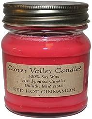 レッドホットシナモンHalf Pint Scented Candle byクローバーValleyキャンドル