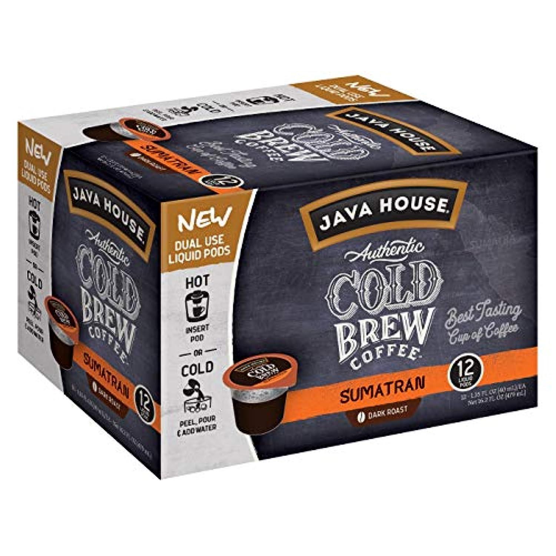 Java House Cold Brew Sumatran K-Cup ジャバハウスコールドブリュースマトラダークロースト Kカップポッド 12 杯分 [並行輸入品]