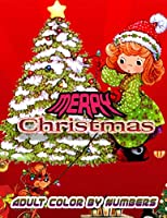 Merry Christmas Adult Color By Numbers: a beautiful colouring book with Christmas designs on a black background, for gloriously vivid colours