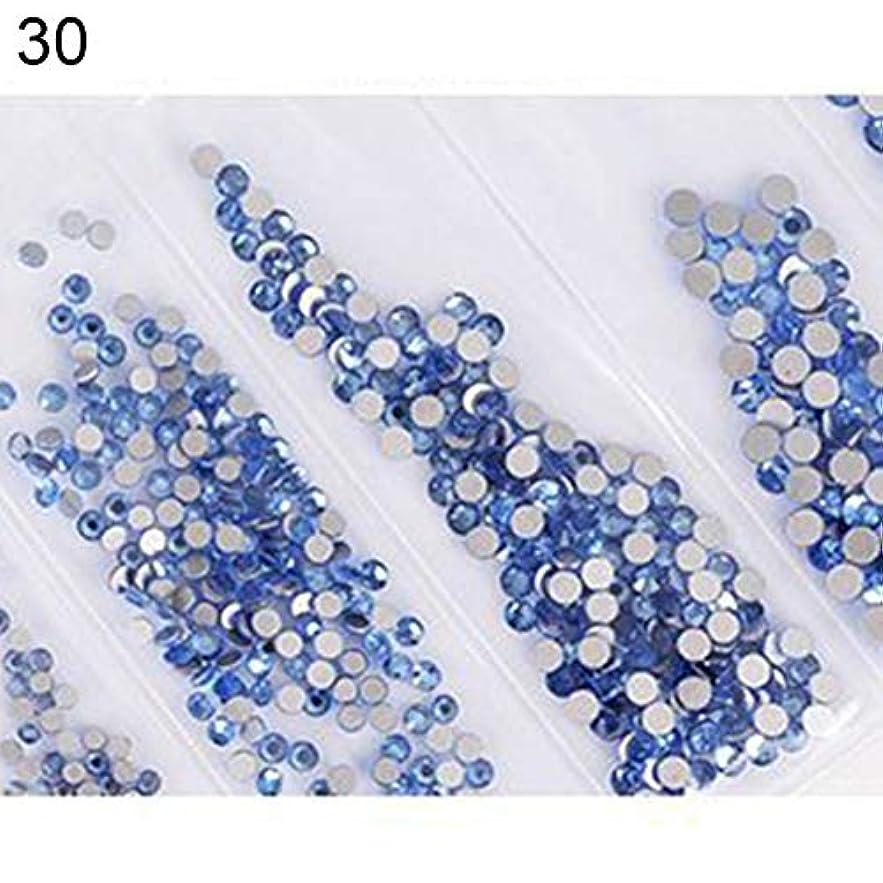 狂乱仕事に行くいちゃつくhamulekfae-6ピース光沢のあるフラットガラスラインストーンネイルアートの装飾diyマニキュアのヒントツール 30#