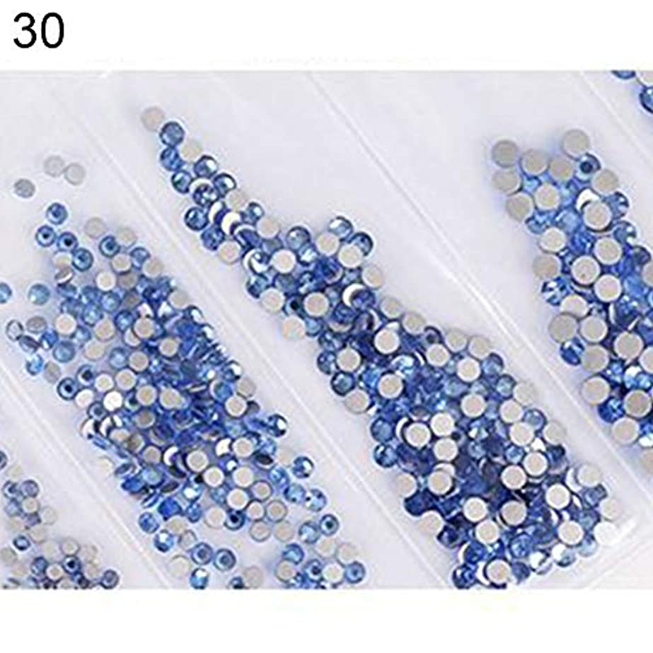 散逸船形バーターhamulekfae-6ピース光沢のあるフラットガラスラインストーンネイルアートの装飾diyマニキュアのヒントツール 30#