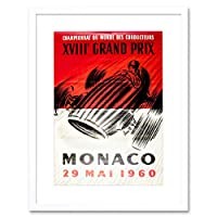Ad Grand Prix Xviii Monaco Picture Framed Wall Art Print グランドモナコ画像壁