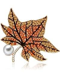 Fablcrew ブローチ 紅葉真珠 胸飾り レディース ピン ジュエリー エレガント 美しい アクセサリー コサージュ 入園式 入学式 卒園式 卒業式 結婚 フォーマ 記念式典