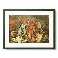 エドゥアール・マネ Edouard Manet (Copy of Ferdinand Victor Eugene Delacroix ウジェーヌ・ドラクロワ) 「Dante and Vergil on the Barge」 額装アート作品