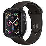 SPIGEN [Rugged Armor] Apple Watch SE / 6/5 / 4 Case with Shock Resistance Compatible with Apple Watch SE / 6/5 / 4 (44mm) - Black