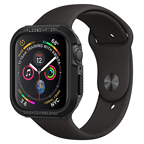 【Spigen】 Apple Watch Series 4 40mm 対応 ケース 落下 衝撃 吸収 タフネスデザイン ラギッド・アーマー 061CS24480 (ブラック)