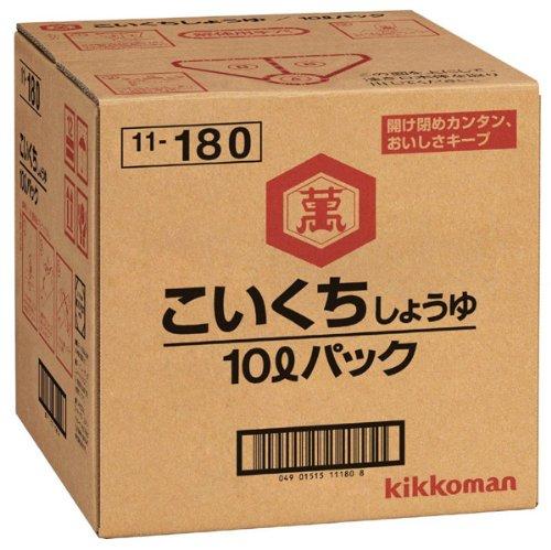 キッコーマンこいくちしょうゆ 10Lパック×1ケース