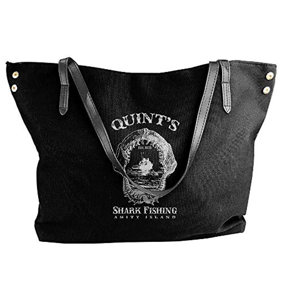 差し引く日光袋2019最新レディースバッグ ファッション若い女の子ストリートショッピングキャンバスのショルダーバッグ Quint's Shark Fishing 人気のバッグ 大容量 リュック
