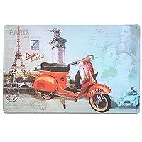 ブリキ看板 バイク bike-2-158 / PARIS パリ アメリカン雑貨 インテリア