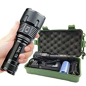 MARKLIGHT LED強力懐中電灯 ハンディライト ズーム機能付き 単三電池/バッテリー18650対応 [並行輸入品]