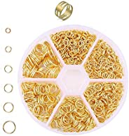 Round rings Gold 0.16, 0.24, 0.24, 0.31, 0.4 inches (4, 5, 6, 7, 8, 10 mm) with rings, jump rings, marukan rin