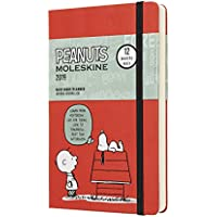 Moleskine 2019 12M Limited Edition Peanuts Daily, Large, Daily, Red, Hard Cover (5 x 8.25)