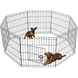Dog Exercise Pen Pet Playpens for Small Dogs - Puppy Playpen Outdoor Back or Front Yard Fence Cage Fencing Doggie Rabbit Cats