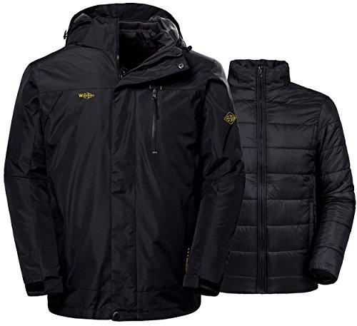 WantDo メンズ アウトドア ジャケット 裏フリース 3in1 多機能 コート 防水防風 アノラック ウンテンジャケット スキーウェア 登山服