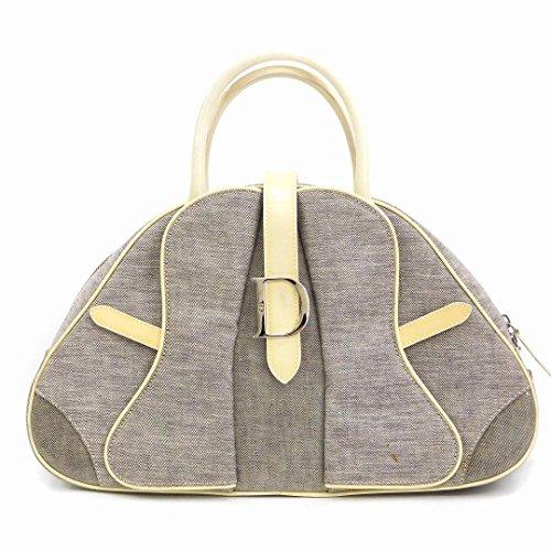 [クリスチャン・ディオール] Christian Dior トートバッグ キャンバス×レザー X17241 中古