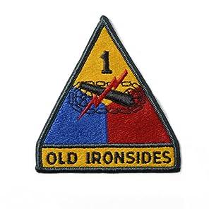 米軍 U.S.ARMY 第一機甲師団パッチ オールド アイアンサイズ 米陸軍 第1機甲師団(ワッペン)