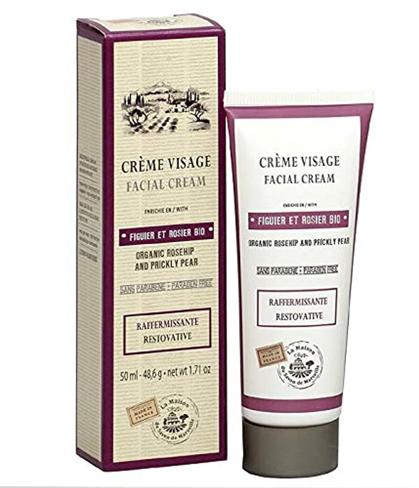 オートボトルネック準備ができてSavon de Marseille Facial Cream Organic Prickly Pear and Rose 50ml