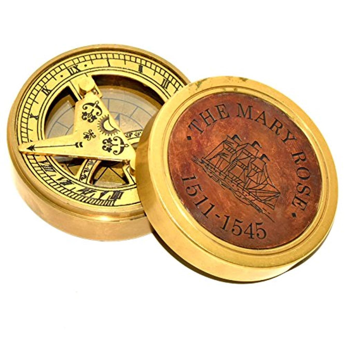 自殺谷管理しますHello Nauticals Store 海のアンティーク真鍮 2.5インチ コンパス 美しいギフト 真鍮コンパス ILMJU987