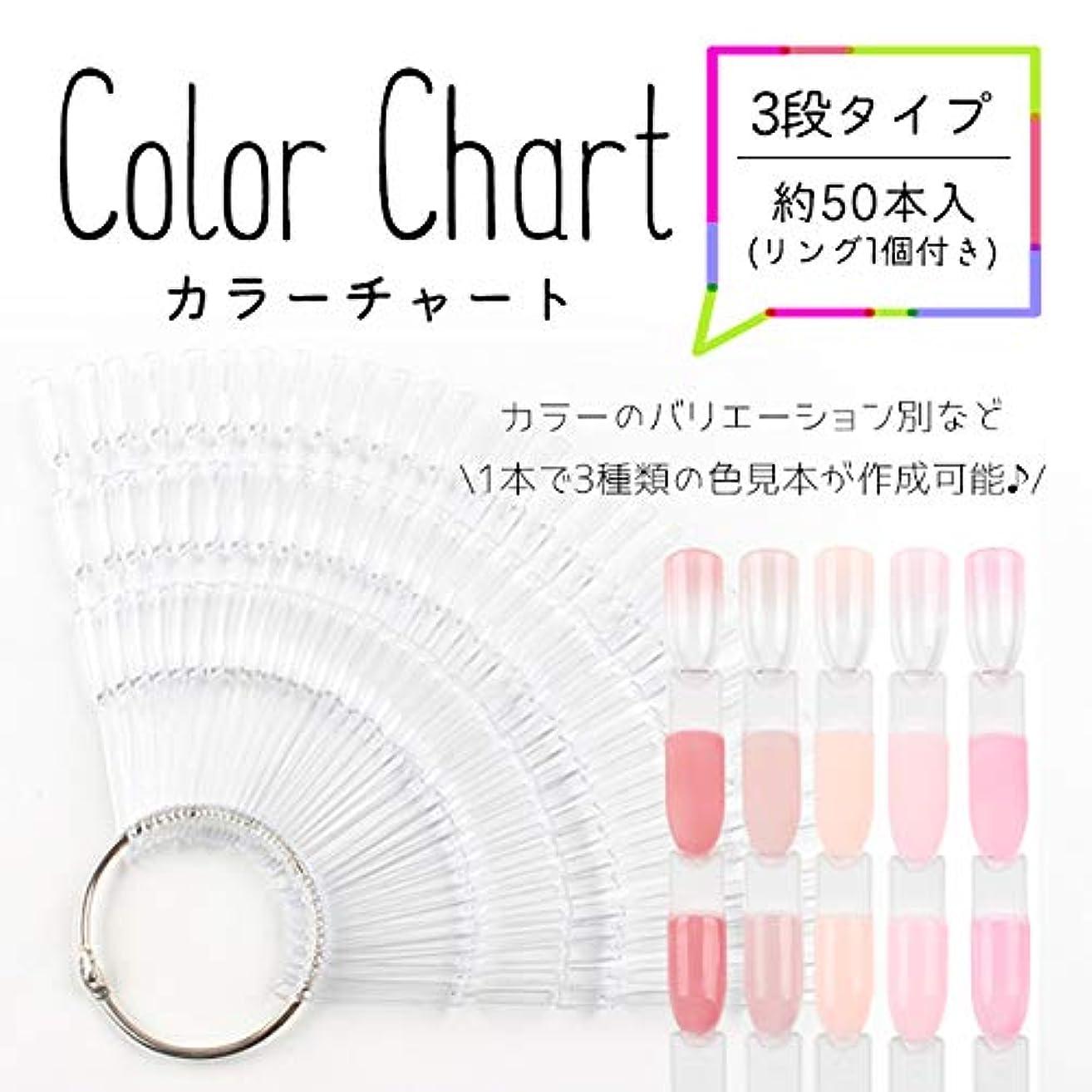 任意スピンストライク3段タイプ カラーチャート (クリア) ネイルアート