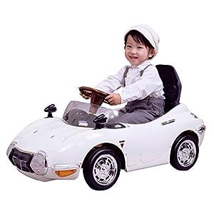 ミズタニ 電動バッテリーカー TOYOTA2000GT ホワイト TGT-B