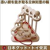 立体知恵の輪(9段)木のおもちゃ脳トレ パズルマニア 頭脳活性 木育