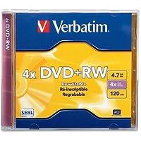 The Great Verbatim DVD + RW、94520、4.7GB、4x、ブランド、ジュエルケース、TAA–94520