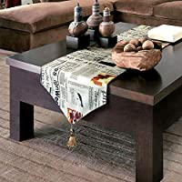 XXOO テーブルランナー 表フラグ食事フラグ近代的なミニマリストの英文字北欧の小さな新鮮なテーブルマットテーブルクロスの長い靴キャビネットテーブルフラグ (Size : 32*160cm)