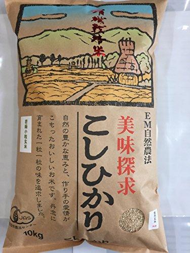 無農薬 有機栽培米 JAS認定 玄米 令和元年産 石川県産 有機若緑小粒玄米 食用玄米   (10kg)